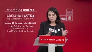 Asamblea Abierta: Adriana Lastra @ Hotel Cristina | Las Palmas de Gran Canaria | Canarias | España