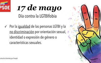 Manifiesto del PSOE en el Día Internacional contra la Homofobia, Transfobia, Lesbofobia y Bifobia (LGTBifobia)