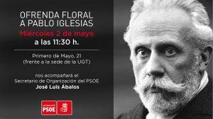 Ofrenda Floral 139º Aniversario PSOE @ Busto de Pablo Iglesias   Las Palmas de Gran Canaria   Canarias   España