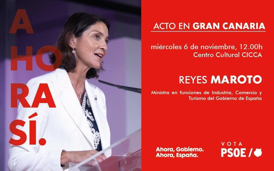 Acto con Reyes Marototo, ministra en funciones de Industria, Comercio y Turismo del Gobierno de España