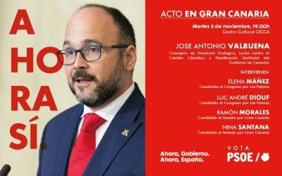Acto Jose Antonio Valbuena. Consejero de Transición Ecológica, Lucha contra el Cambio Climático y Planificación Territorial del Gobierno de Canarias
